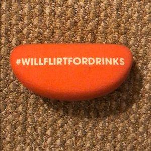 """""""Will Flirt For Drinks"""" Sunglasses Hard Case"""